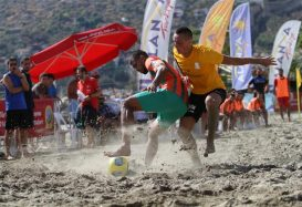 Beach football final in Alanya