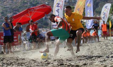 Beach football final in Alanya