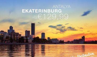 Flights to Antalya from Yekaterinburg