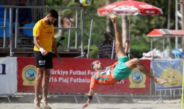 Beach football in Alanya