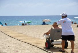 Disabled beach in Alanya