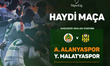 A. Alanyaspor FC against E. Y. Malatyaspor at Super Leauge