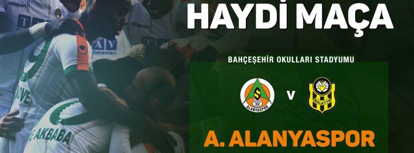 A. Alanyaspor FC against E. Y. Malatyaspor at Super Leauge